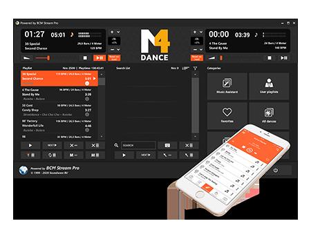 Music4Dance player & Remote App